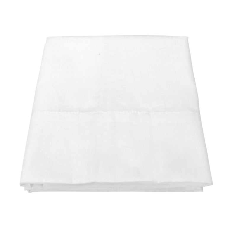Bulk Case of 72 Pillowcases - Size and Thread Count Options - White - Cotton/Poly Blend