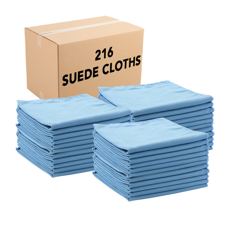 Case of 216 Microfiber Suede Cloths - 16 x 16 - Color Options - Absorbent & Quick Drying