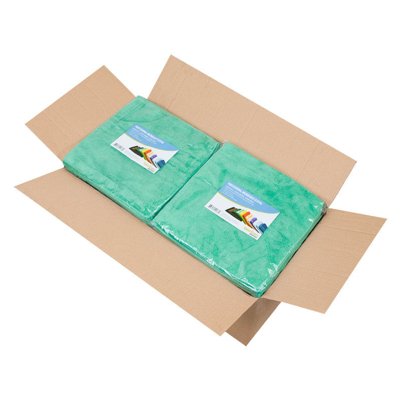 Case of 240 Microfiber Cleaning Cloths - 12 x 12 - Color Options - All Purpose Cloth
