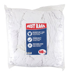 White Premium T-Shirt Cleaning Towels - Packaging Size Options - Quality Multi-Purpose Rags