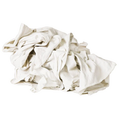 New Mill End Rags - White Washed T-shirt Wipers -10lb or 50lb Box