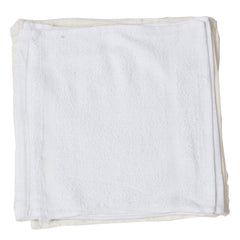 Terry Washcloth Rags - Packaging and Size Options - Bulk White Terry Towel Rags as Multipurpose Cleaning Solutions