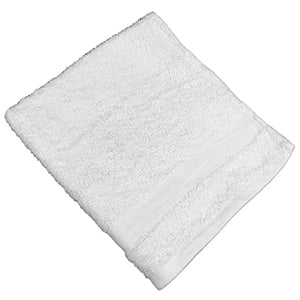 Pack of 24 Plus Crescent Hand Towels - 16x27 - White - Soft - Poly Blended
