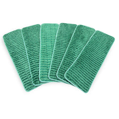 12 Pack of Scrubbing Wet Mop Microfiber Pads: Color Options