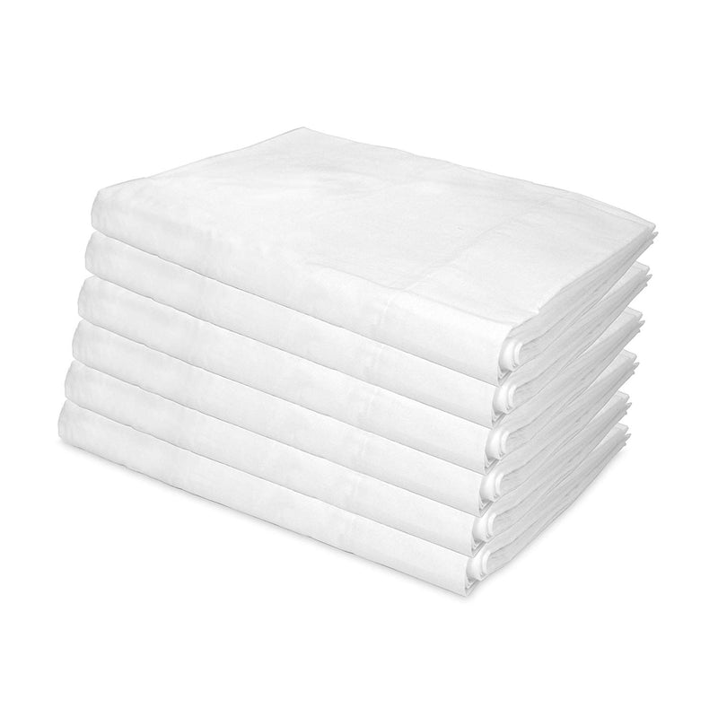 12 Pack of Flat Bed Sheets: KING SIZE
