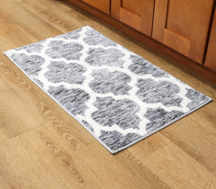 Artistry Area Rug - 20 x 34 - Trellis Design- Microfiber Material w/ Skid-Resistant Backing