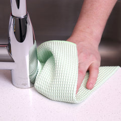 12 Pack of Waffle Microfiber Cleaning Cloths: 16 x 16, Color Options