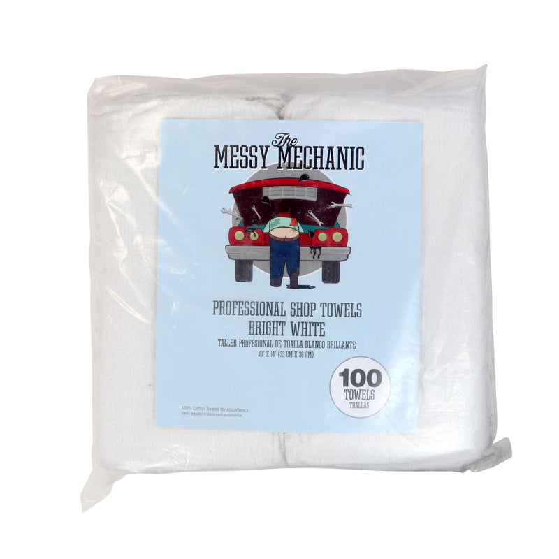 Messy Mechanic Shop Towels: 12 x 14, Color & Pack Size Options