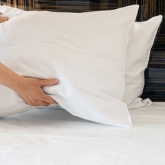 12 Pack of Lulworth Standard Size Soft White Pillowcases
