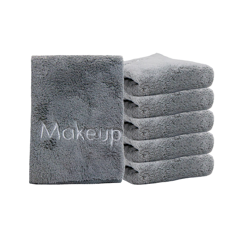 6 Pack of Coral Fleece Microfiber Makeup Towels: 13 x 13, Color Options