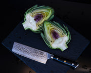 "Regalia Emperor Series 6"" Nakiri Knife w/ Hammered Finish- AUS10V Japanese 67 Layers Damascus Steel"