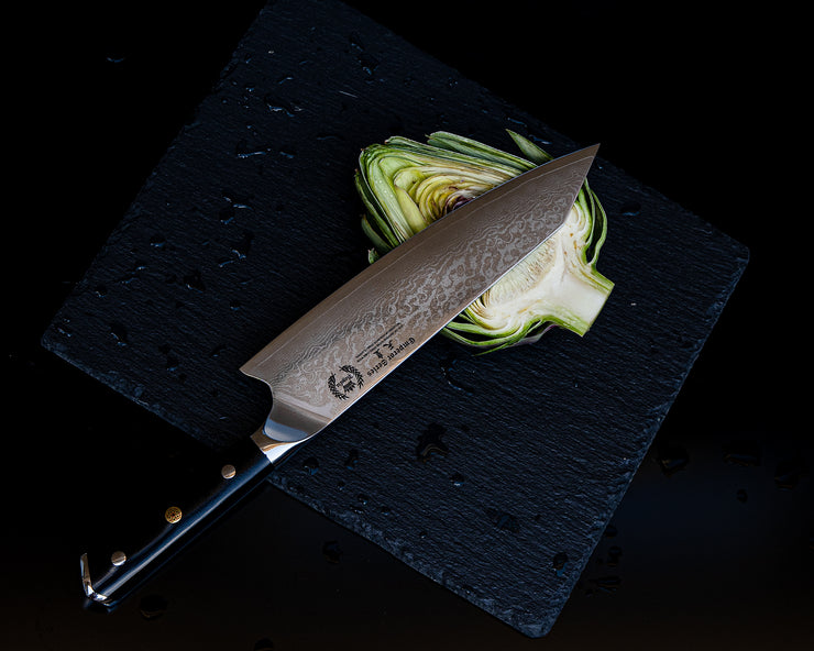 Regalia Knives™ Emperor Series 8.5-Inch Kiritsuke Knife- Japanese AUS10V 67 Layers Damascus Steel