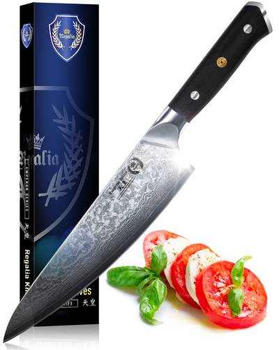 Regalia™ Emperor Series 8'' Chef Knife- AUS10V Japanese High Carbon 67 Layers Damascus Steel