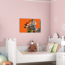 Frameless Beautiful Glass Wall Painting for Home: Foxy Rabbit Closeup