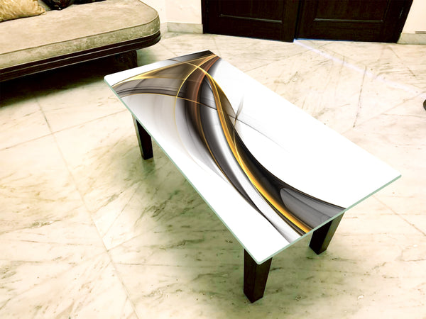 Designer Center/Coffee Table with Glass Top - FGCT-45