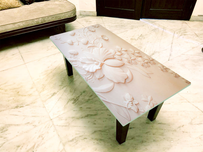 Designer Center/Coffee Table with Glass Top - FGCT-26