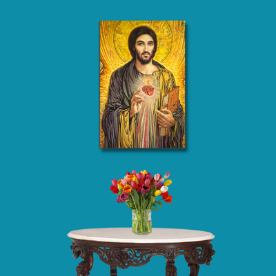 Realistic Modern Jesus Paintings - Glass Painting