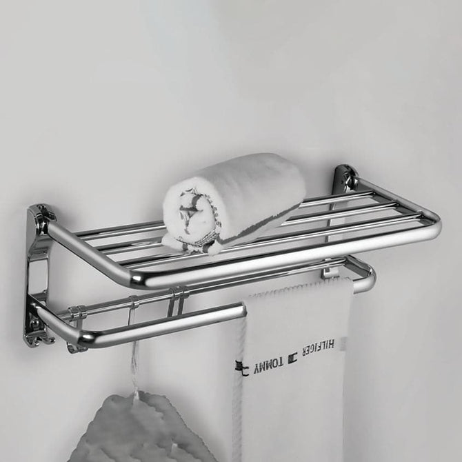 Double Folding Towel Rack / Holder