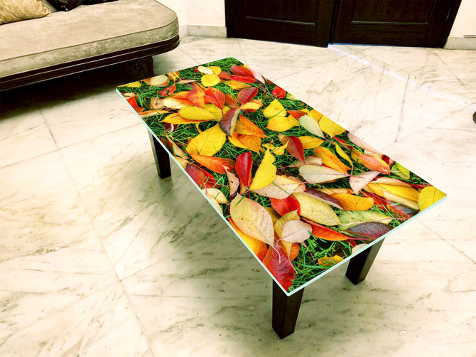 Designer Center/Coffee Table with Glass Top - FGCT-06