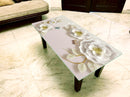 Designer Center/Coffee Table with Glass Top - FGCT-37