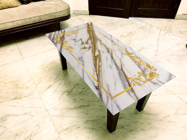 Designer Center/Coffee Table with Glass Top - FGCT-44