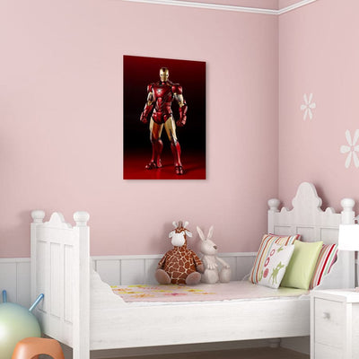 Frameless Beautiful Glass Wall Painting for Home: IRON MAN MARK 35