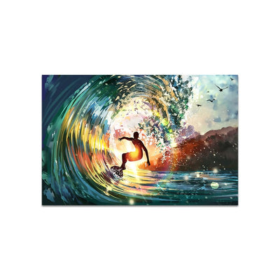 Abstract Frameless Beautiful Wall Painting for Home: Modern Wave Art