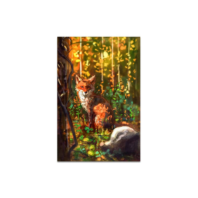 Frameless Beautiful Wall Painting for Home: Modern Wildlife Fox