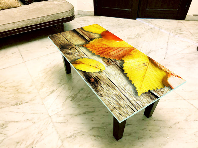 Designer Center/Coffee Table with Glass Top - FGCT-16