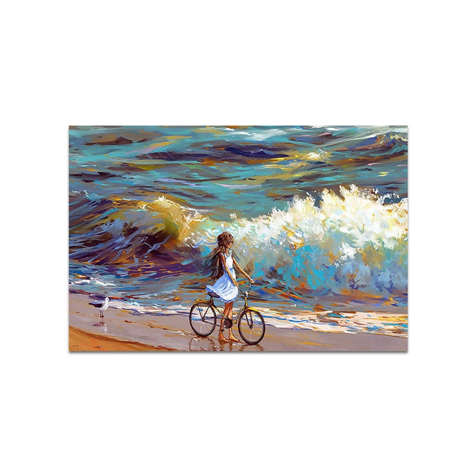 Abstract Frameless Beautiful Wall Painting for Home: Seaside Strolling