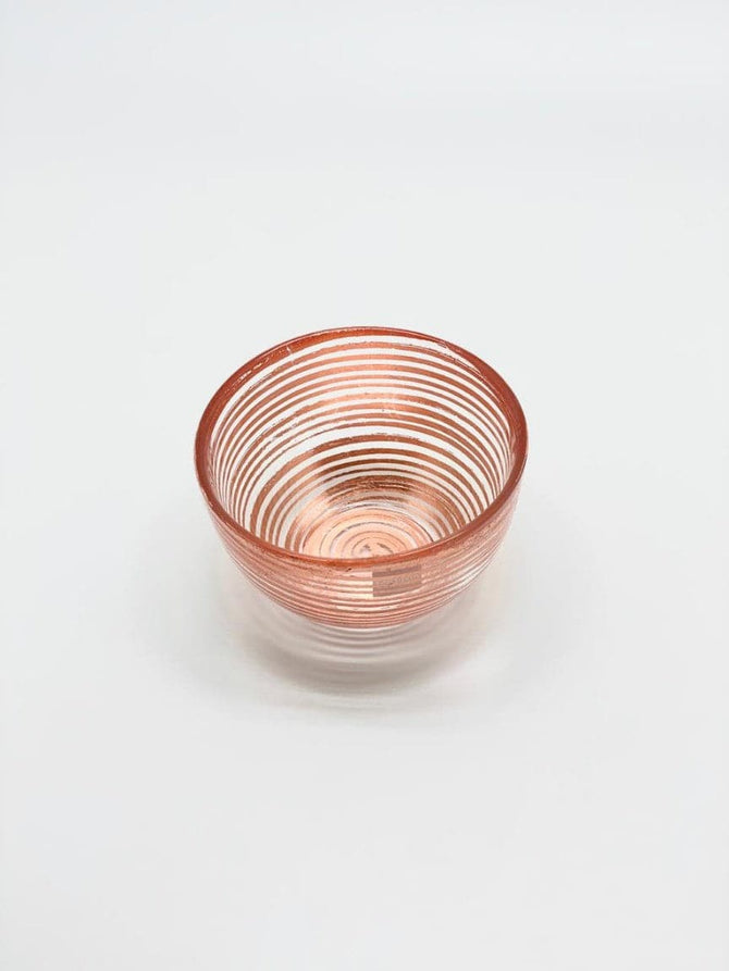 Small bowl Rose Gold(Foil) glass, Set of 6, Color Box
