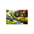 Digital Art Wall Painting for Home: Dream Cottage Valley