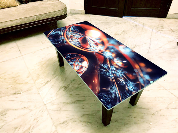 Designer Center/Coffee Table with Glass Top - FGCT-05