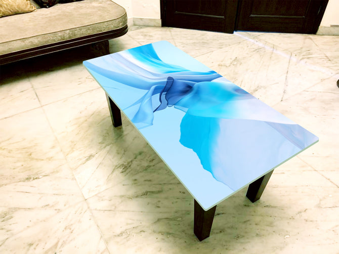 Designer Center/Coffee Table with Glass Top - FGCT-03
