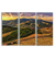 Arizona Greens Desert: Multiple Frame Wall Painting on High-Quality Toughened Glass, Set of 3