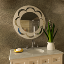 Decorative Mirror - Round Frosted Cycles Designer mirror