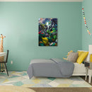 Frameless Beautiful Glass Wall Painting for Home: Batman and Teenage Mutant Ninja Turtles