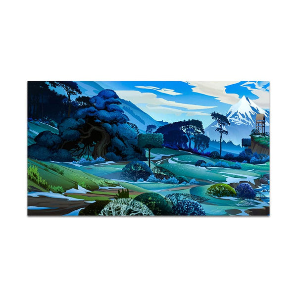 Blue Valley Nature Art Wall Painting for Home