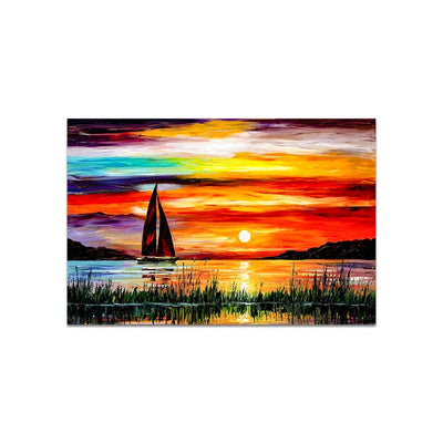 Rainbow Sun Digital Arts Wall Painting for Home
