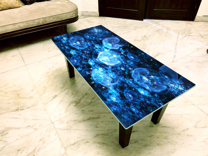 Designer Center/Coffee Table with Glass Top - FGCT-02