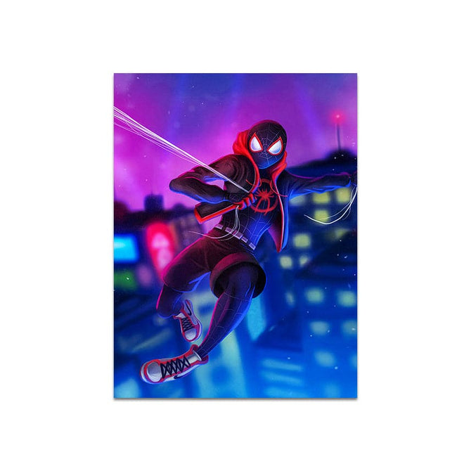 Frameless Beautiful Wall Painting for Home: Spidey Cool Art