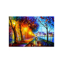 Abstract Wall Painting for Home: City By The Lake