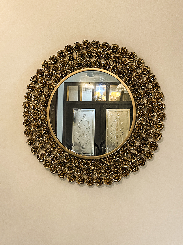 Decorative Mirror - Golden Rose Garden