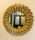 Decorative Mirror - Golden Sunflower Floret