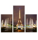 Multiple Frame Wall Painting for Living Room: Eiffel Tower