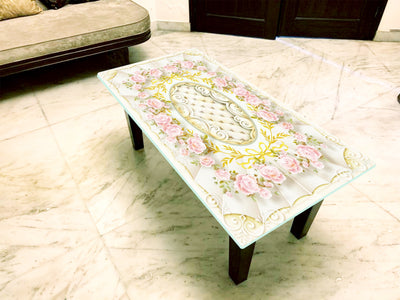 Designer Center/Coffee Table with Glass Top - FGCT-09