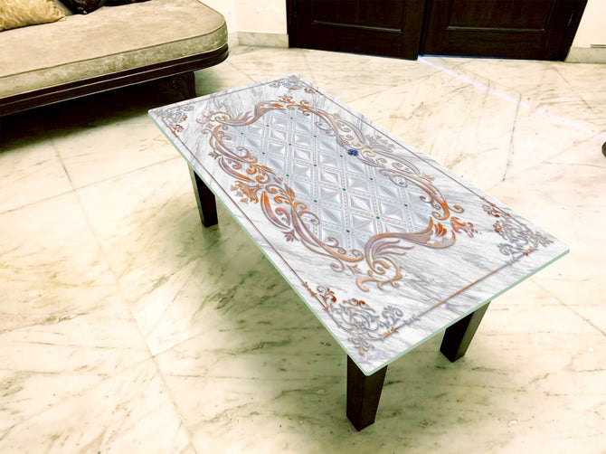 Designer Center/Coffee Table with Glass Top - FGCT-11
