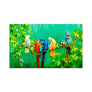 Rainbow Parrots Digital Art Wall Painting for Home