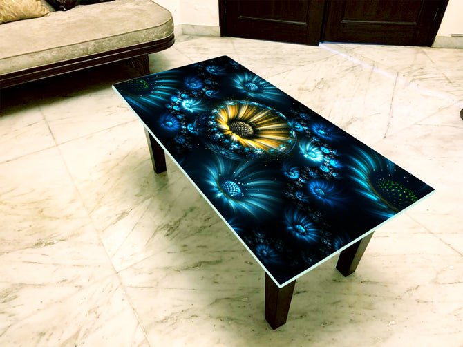 Designer Center/Coffee Table with Glass Top - FGCT-31
