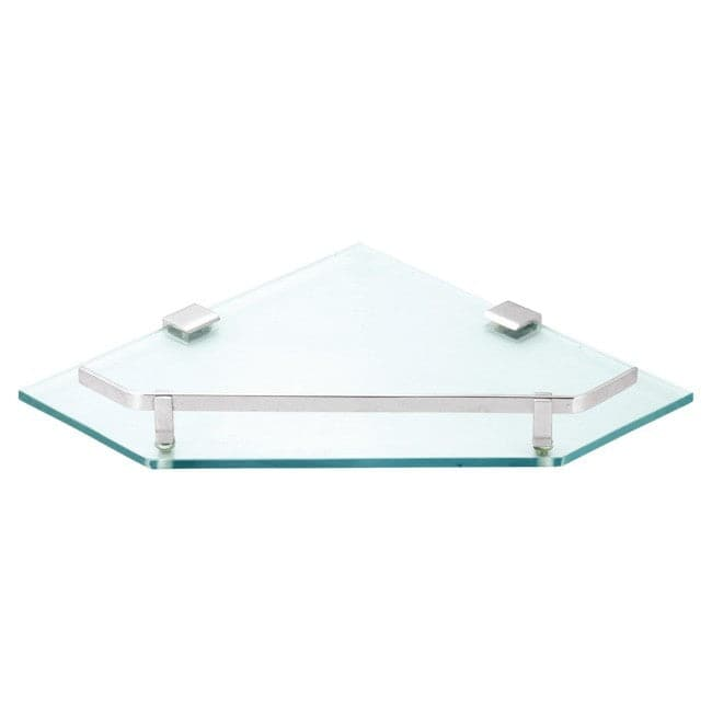 Flair Corner TOUGHENED Glass Shelf with Brass Fitting (Supreme)